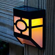 2-LED Solar Powered Wall Mount Lantern Light Deck Lamp