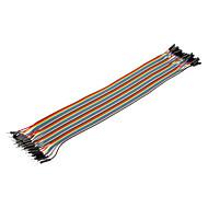 40pin 1P-1P Man-vrouw Dupont Line Kleurrijke Dupont Wire (30CM)