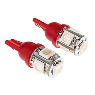 T10 5x5050SMD 194 168 RED Light LED Bulb for Car (DC 12V)