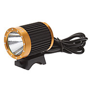 LetterFire LF-19 3-Mode Cree XM-L T6 LED Bicycle Flashlight/Headlamp (1000LM, 4x18650, Black+Gold)