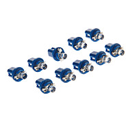 B8.5D 1-LED 10-20LM Blue Light LED Bulb for Car (12V,10pcs)