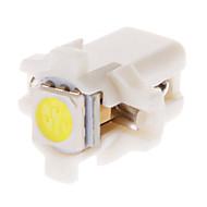 B8.5D 1x5050SMD 10-20LM 6000K Cool White Light LED Bulb for Car (12V,10pcs)