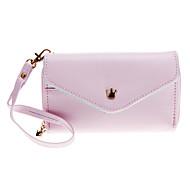 Piękny Koperta Purse Wallet Style Bag Case z rysikiem do Samsung / iPhone Telefony komórkowe poniżej 5 cali (Pink)