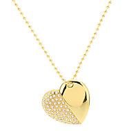 En forma de corazón de oro con cadena de la impulsión del flash 4G
