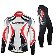 SANTIC Bike/Cycling Jersey + Pants/Jersey+Tights / Jacket / Tights / Clothing Sets/Suits Men's Long SleeveBreathable / Ultraviolet
