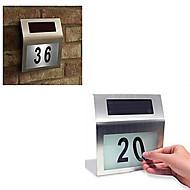Outdoor 2-LED Solar Powered Stainless Steel White Light for Doorplate
