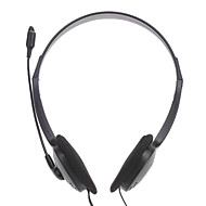 E800 hörlurar 3.5mm över örat stereo hi-fi med mikrofon för PC / desktop