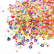 1PCS Box Hollow Colorful Five-pointed Star Nail Art Decoration
