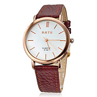 Not Specified Simple Round Dial PU Band Quartz Analog Wrist Watch (Assorted Colors)