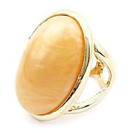 Elegante anillo de la piedra preciosa del oro del temperamento de la manera europea y americana