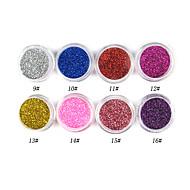 1PCS Laser Glitter Acrylic Powder For 3D Nail Art(Assorted Color,No.9-16)