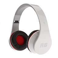 A6 Dinámica Stereo Music Cómodo Headphone Blanco