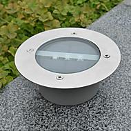 Cubierta de la luz blanca LED Solar Ronda Luz empotrada Muelle Camino del jardín Luz
