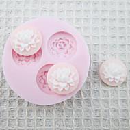 Mold 3D Tre fori Fiori silicone del fondente di zucchero Craft Stampo Strumenti cioccolato stampo per torte