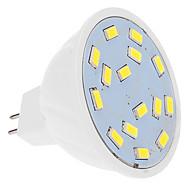5W Lâmpadas de Foco de LED MR16 15 SMD 5630 460 lm Branco Frio DC 12 V
