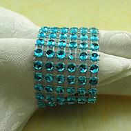 Crystal Servett Ring Set om 6, akryl Dia 4,5 cm