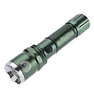 LED Lommelygter / Lommelygter LED 3 Tilstand 350 Lumens Vanntett Cree XR-E Q5 18650 Camping/Vandring/Grotte Udforskning - SmallSun , Grøn