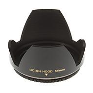 55 mm Univerzální sluneční clona pro fotoaparát (černá)