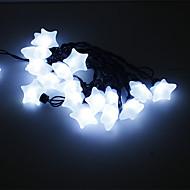 5M 15W 20-LED White Light stjerne formet LED stripe lys (220V)