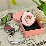 Presente personalizado Blossom Estilo Rosa Chrome espelho compacto