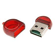 Mini USB Muistikortinlukija (keltainen / punainen)