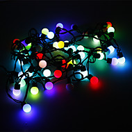 5M 3W 50-LED RGB Light Ball Shaped LED Strip Light (220V)
