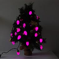 5M 15W 20-LED Pink Light Cherry Tomato Shaped LED Strip Light (220V)