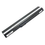 5200mAh Laptop Batteri til Asus K52 X8C x67 X5I X42 P62 P82 PRO5I PR067 PR08C P42 - Svart
