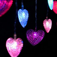 4m 20-LED heart shape lamp Marriage Room Decoration Decorative Accessories