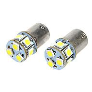 BA15S T18 1.6W 12VDC 110LM 9-LED White Light Car Light Bulbs