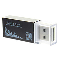All-in-One USB 2.0 Micro SD-Speicherkartenleser (lila / schwarz)