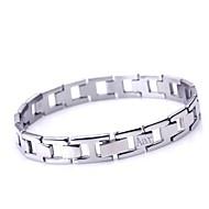 Gepersonaliseerde Gift Men's Jewelry Eenvoudig Ontwerp RVS gegraveerd ID Armbanden 1cm Breedte