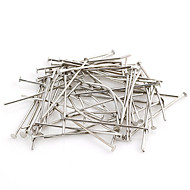 Useful Line Shaped Silver Alloy Connectors 100 Pcs/Bag