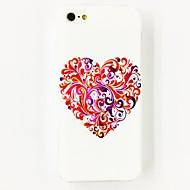 O teste padrão colorido da flor do amor Hard Case Policarbonato para iPhone 4/4S
