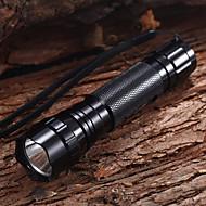 Sykkellykter LED Lommelygter / Sykkellykter Vandtæt 1200 Lumens Batteri Cree XM-L T6 Sort Multifunktion