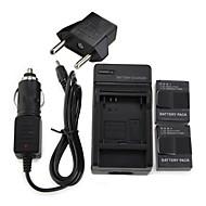 2 개 AHDBT-301 배터리 용 1600mAh 배터리 팩 + 벽 충전기 + 차량용 충전기 + EU 어댑터 GoPro의 3 플러그 & 3 +