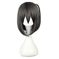 "Harajuku Style Cosplay Synthetic Wig The ""HENTAI"" Prince and the Stony Cat Black&Grey Straight Medium Wig"