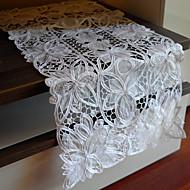 White Polyester Rectangular Table Runners