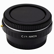 Contax C/Y LensTo NIKON SLR Camera Adapter Ring / Corrective Glass / Infinity Focus