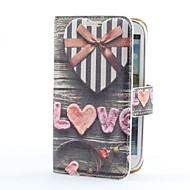 Custodia in pelle regalo PU Style Box Cuore con slot per schede e supporto per i9300 Samsung Galaxy S3
