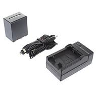 ismartdigi-Sony NP-FV100 3900mAh, 7.2V Batteri + Billaddare för SONY CX700E/PJ50E/30E/10E/CX180E/VG10E/FV70/FV50