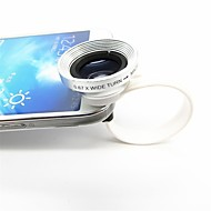 2 em 1 Universal C Estilo Clipe 0.67X Wide Angle Add-On Lens com lente macro para iPhone / celulares