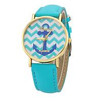 reloj de cuarzo de la venda de la PU de línea colorido diseño de anclaje de las mujeres (colores surtidos)