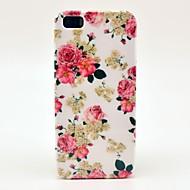 Bela Padrão Rosa Flor Hard Case para iPhone 5/5S