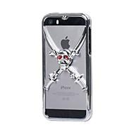 GeekRover 3D vitória do crânio do metal Hard Case para iPhone 5/5S (cores sortidas)