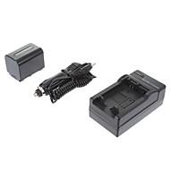 ismartdigi-Sony NP-FV70 2060mah, 7,2 V Aparat Akumulator + Ładowarka samochodowa do SONY XR350E XR550E SR68E FV100/FV50