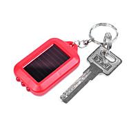 ABS solaire lampe de poche rechargeable LED Portable (couleur aléatoire)