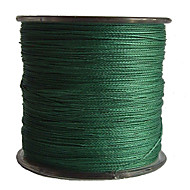 500M / 550 Yards PE Braided Line / Dyneema / Superline Fishing Line Green 50LB / 45LB / 60LB 0.3,0.32,0.37 mm ForSea Fishing / Freshwater