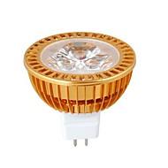 MR16 3W Dimmable 1W × 3LEDs 270-300LM 3000-3500K lâmpada quente branco LED Spot (DC12V)