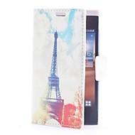 Eiffel Håndklæde læderetui med kort slot og Stand til LG L5/E610/E612